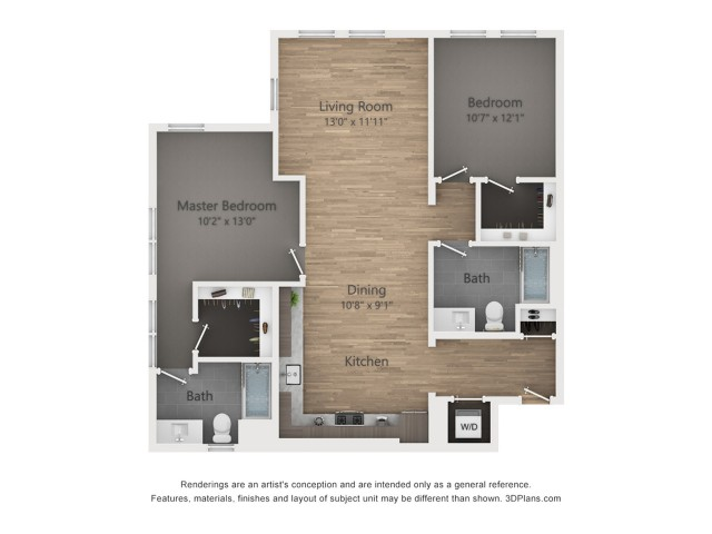 Two Bedroom B7.1 1177Sq ft