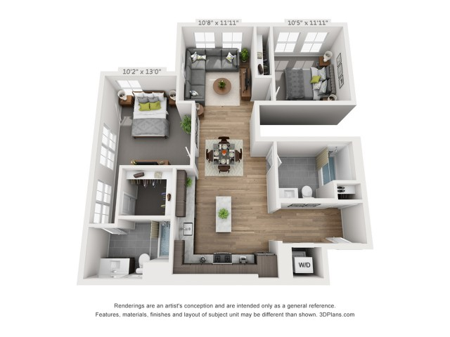 Two Bedroom B7 1111 Sq ft