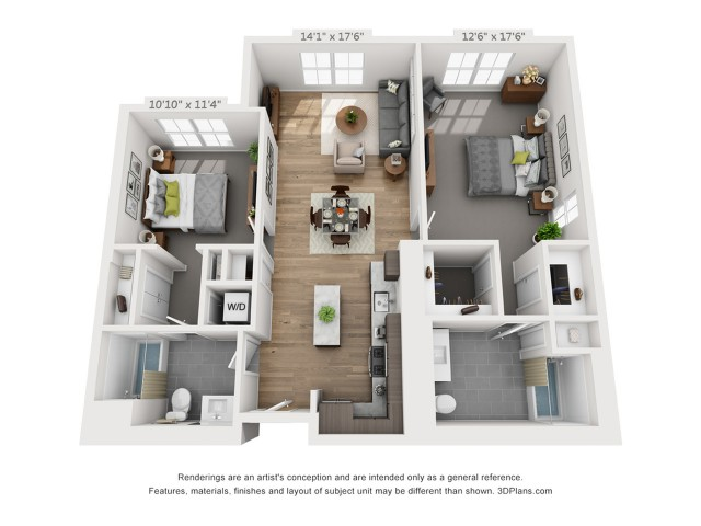 Two Bedroom B5.1 1196 Sq ft