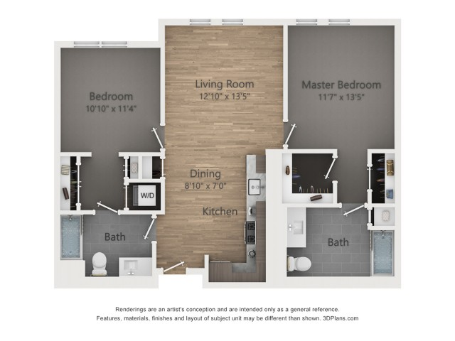 Two Bedroom B5 1050 Sq ft