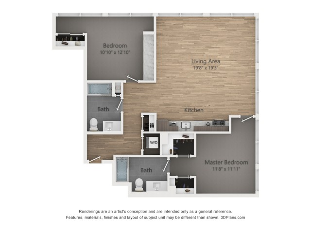Two Bedroom B4.2 1255 Sq ft