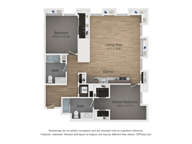 Two Bedroom B4.1 1238 Sq ft