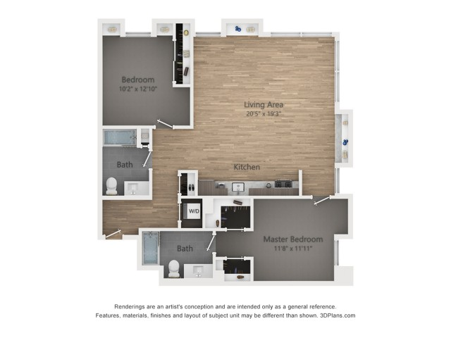 Two Bedroom B4 1273 Sq ft