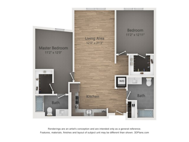 Two Bedroom B3.2 1025 Sq ft