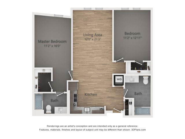 Two Bedroom B3.1 1007 Sq ft