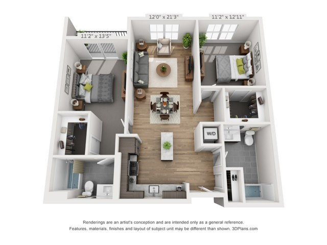 Two Bedroom B3 1140 Sq ft