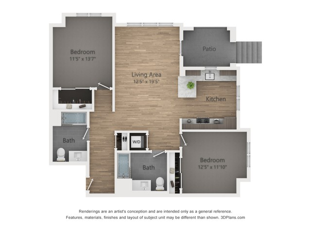 Two Bedroom B1.1 1061 Sq ft