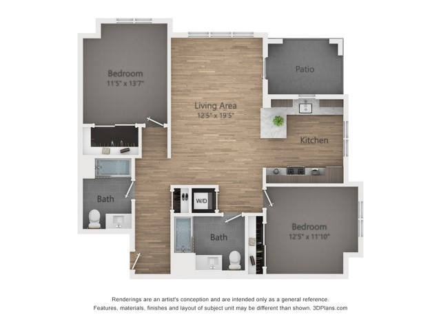 Two Bedroom B1.2 1101 Sq ft