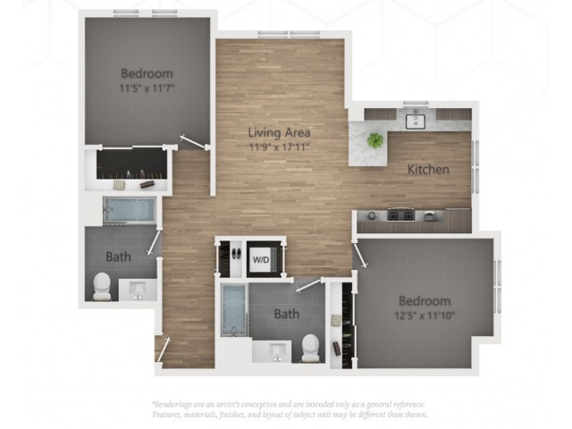 Two Bedroom B1.3 1034 Sq ft