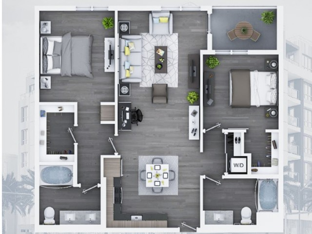 2 bedroom C9 1115 Sq ft
