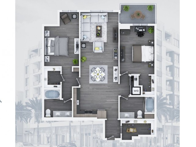 2 bedroom C13 1263 Sq ft