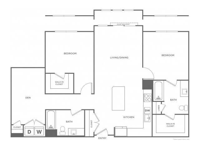 Mulberry West | 2 bed 2 bath | from 1255 square feet