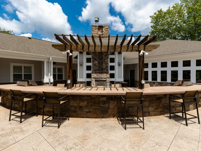 Ample grilling stations featuring Bull™ gas grills