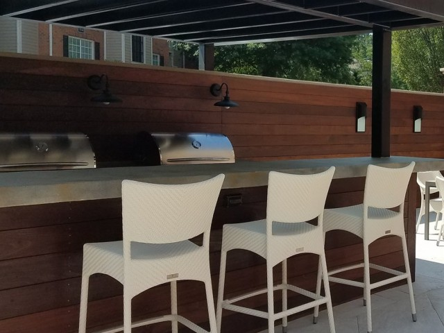 BBQ Grilling area with patio dining