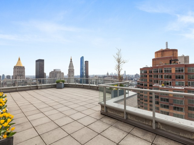 Rooftop deck with sweeping views