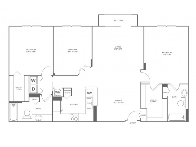 Tide | 3 bed 2 bath | from 1535 square feet