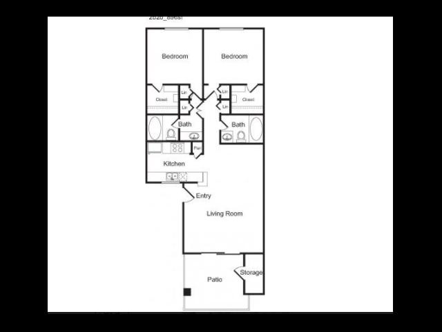 2b Floor Plan