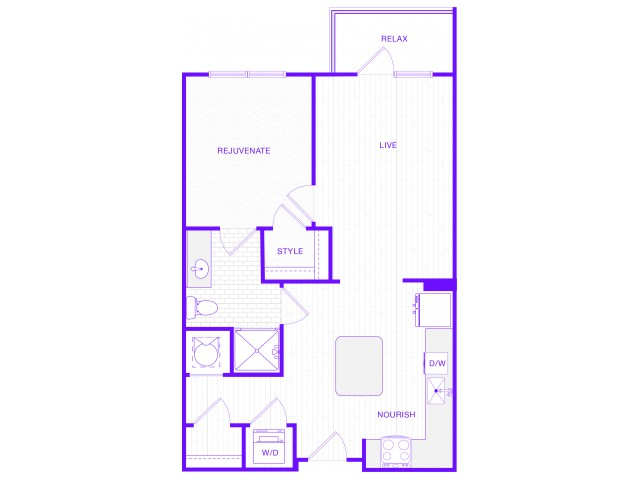 The Lewis | 1 bed  1 bath | 1040 sq ft