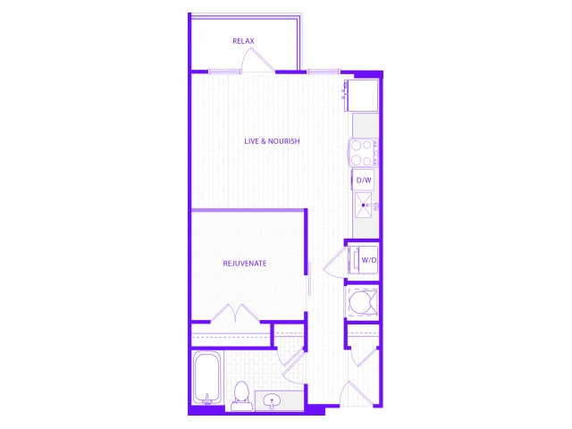 The Waters | 1 bed  1 bath | 676 sq ft