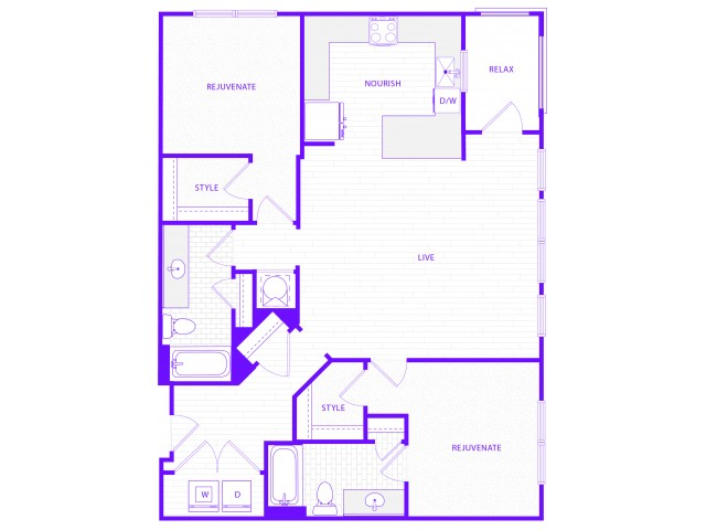 The Janis | 2 bed  2 bath | 1338 sq ft