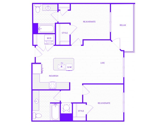 The Havens | 2 bed  2 bath | 1034 sq ft
