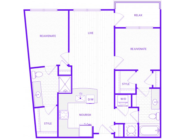 The Rider | 2 bed  2 bath | 1065 sq ft