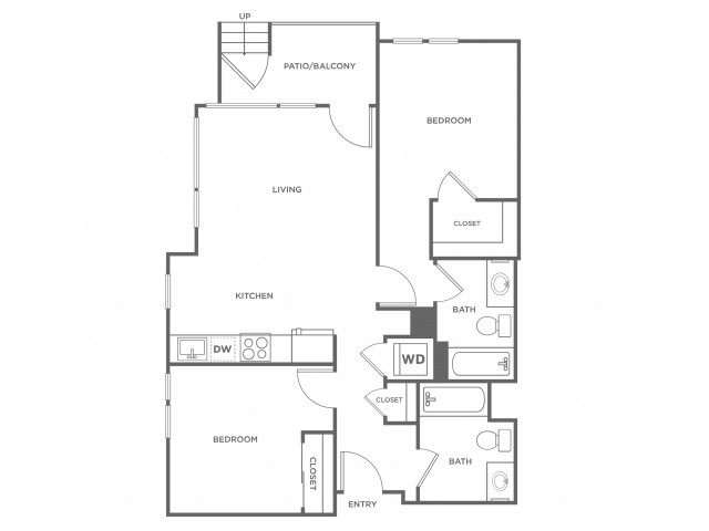 2b | 2 bed 2 bath | from 902 square feet
