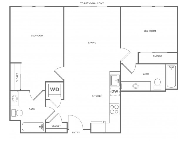 2c | 2 bed 2 bath | from 946 square feet