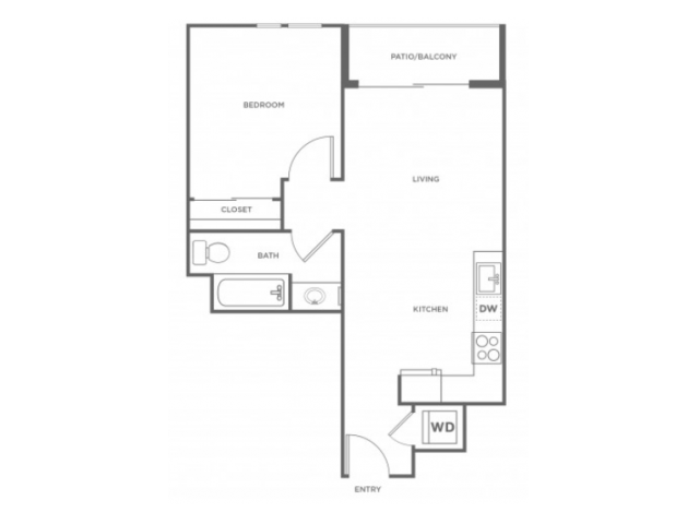 1b | 1 bed 1 bath | from 645 square feet