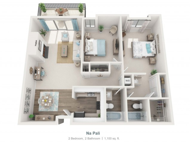 Na Pali - gr   2 bed 2 bath   from 1100 square feet