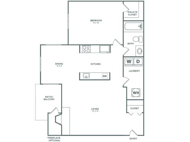 A1 Birch   1x1   736 sq ft