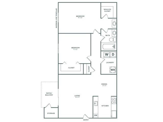 B1 Sycamore   2 x 1   860 sq ft