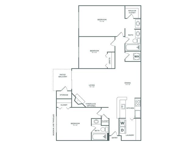 C1 Willow   3 x 2   1107 sq ft