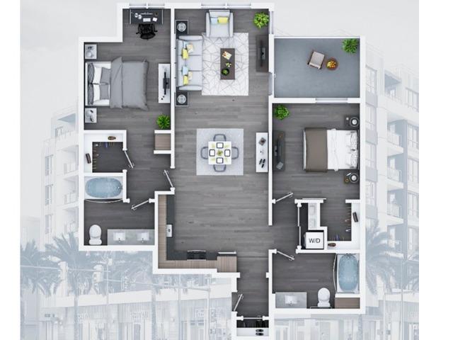2 bedroom C11 1158 Sq ft
