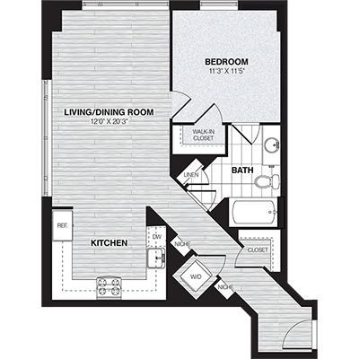 A3 | 1 bed 1 bath | from 767 square feet