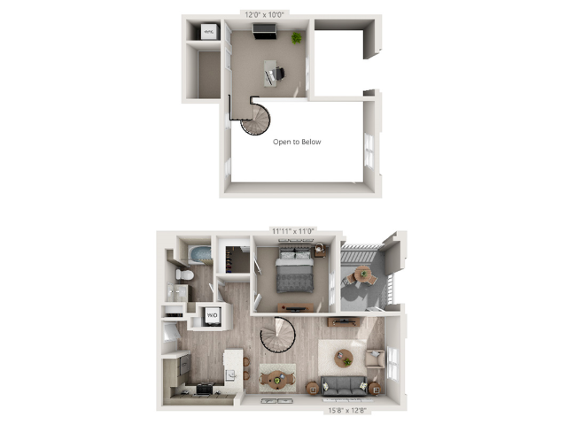 A2M | 1 bed 1 bath | from 893 square feet
