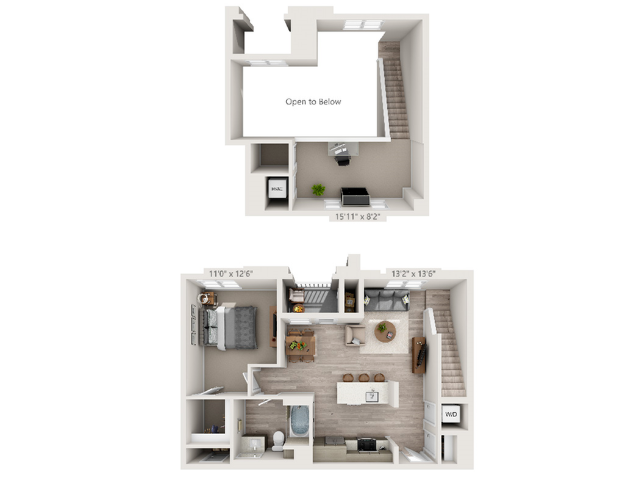 A5M | 1 bed 1 bath | from 939 square feet