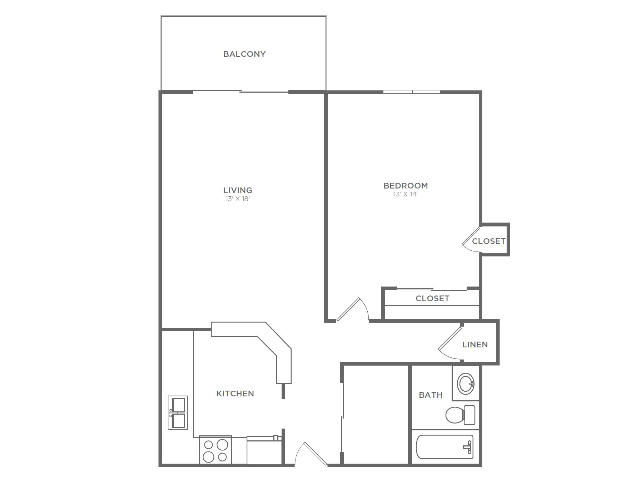 1 Bedroom 1 Bathroom A2 | from 800 sq ft