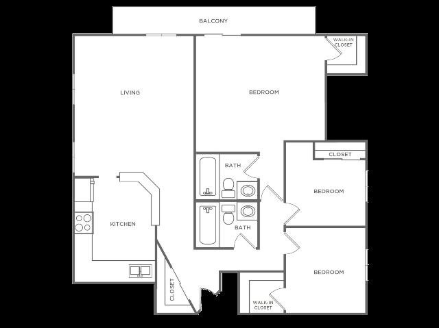 3 Bedroom 2 Bathroom C1r2 | from 1300 sq ft