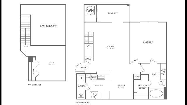 A1.1  Sophisticated | 1 bed 1 bath | from 957 square feet