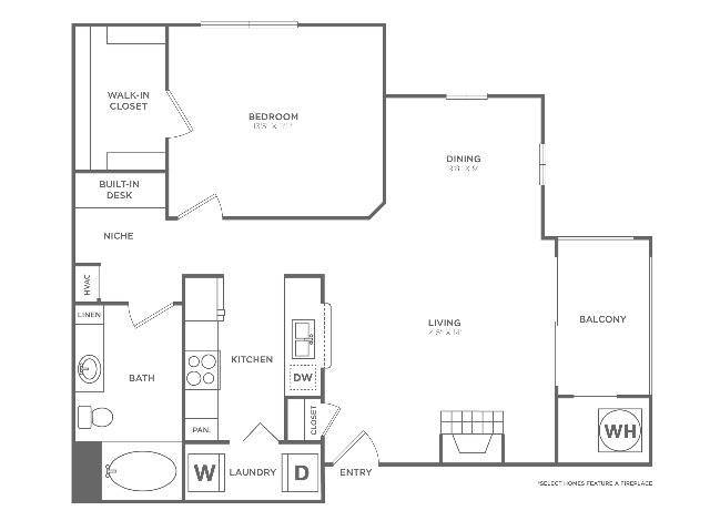 A2 Sophisticated | 1 bed 1 bath | from 850 square feet