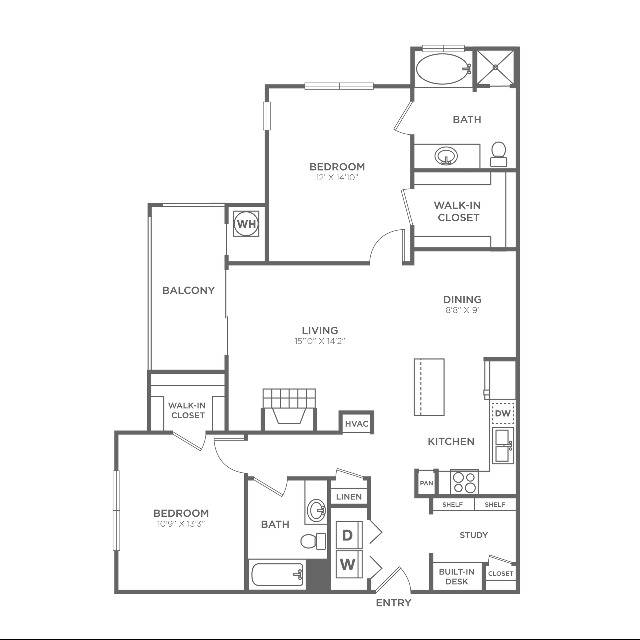 B4 Sophisticated | 2 bed 2 bath | from 1234 square feet