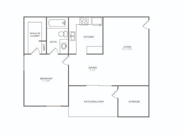 F. Reno   1 bed 1 bath   652 sq ft