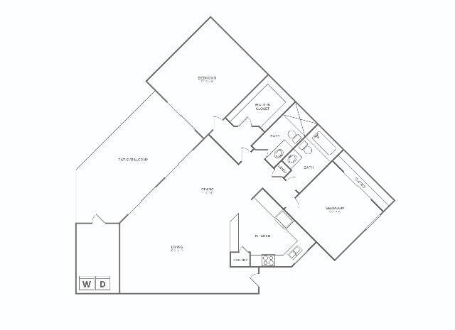 2x2 F Reno - D   2 bed 2 bath   1078 sq ft