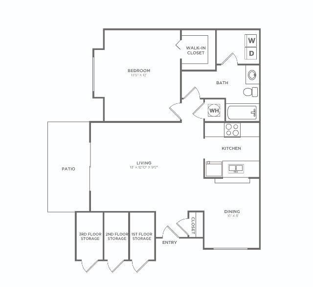 1x1 F. Reno   1 bed 1 bath   791 sq ft