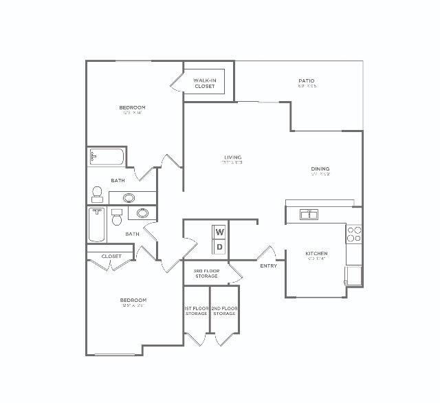 2x2-A   2 bed 2 bath   1268 sq ft