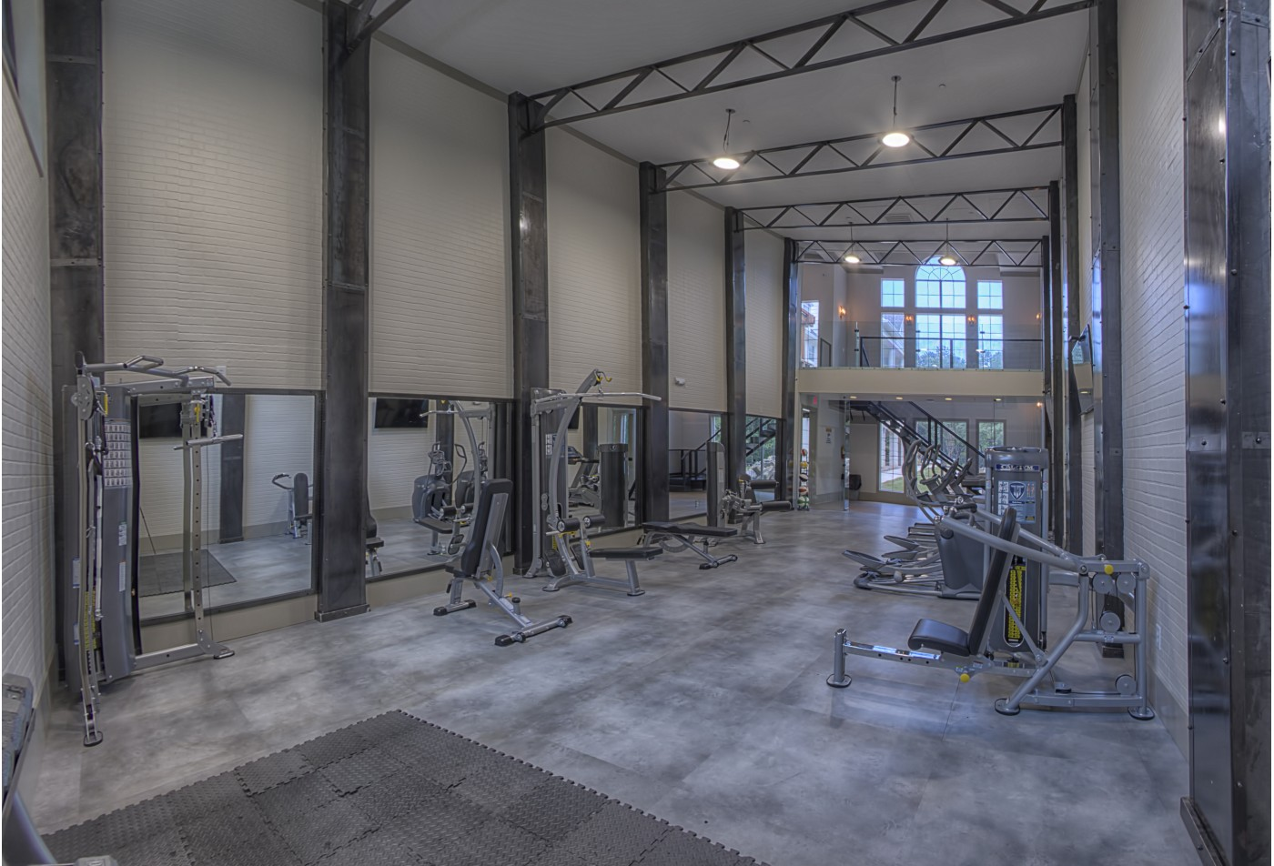Fitness center at our Wesley St. James Apartments in Atlanta Georgia