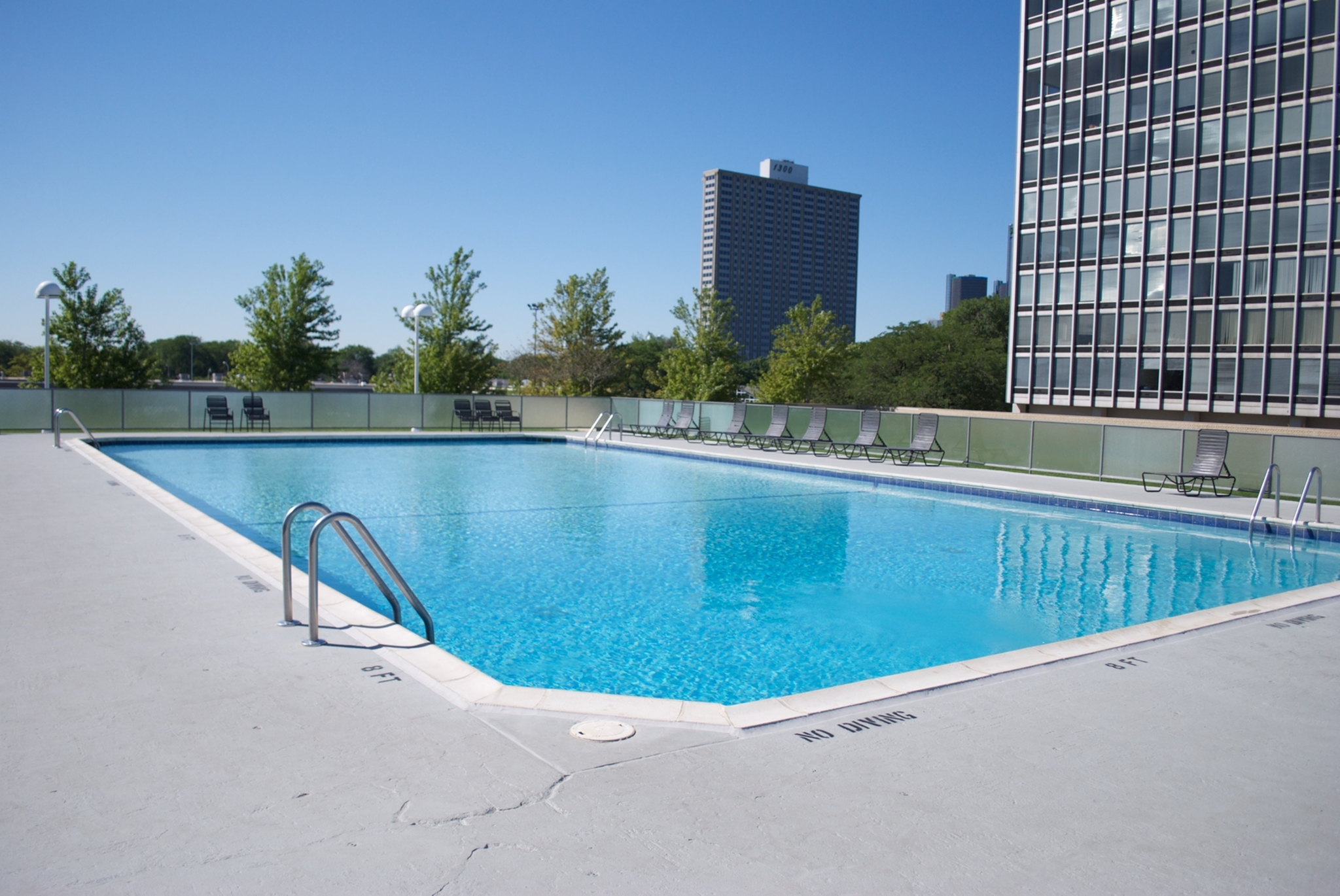 Image of Outdoor heated swimming pool for Lafayette Towers
