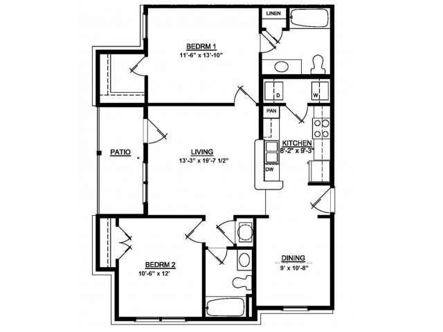 2 BDR 2 Bath 60 Summit