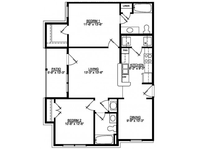 2 Bed 2 Bath Douglas